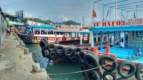 Day trip boats Nha Trang, Vietnam royalty free stock photo