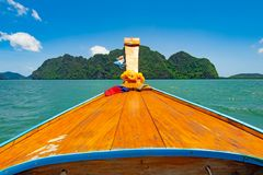 day trip by long tail boat to the paradise unseen island royalty free stock image