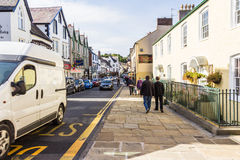 Day Trippers. A scene from a Seaside town of Conwy, north Wales with Day Trippers Royalty Free Stock Image