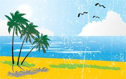 Day on tropical beach - 3 Stock Images