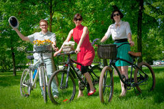Day of the Uniform Bike Action Royalty Free Stock Image