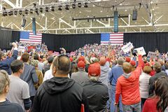 Energized Trump supporters at the MAGA Rally in Cleveland, Ohio, USA stock photography