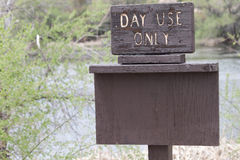 Day Use Only Sign Royalty Free Stock Photos