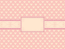 Day of  Valentine background. With vintage frame vector illustration Royalty Free Stock Image