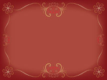 Day of Valentine background. With vintage border vector illustration Stock Image