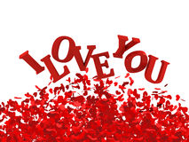 Day Valentine card. I love you Royalty Free Stock Images