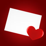 Day Valentine card. With heart Royalty Free Stock Image