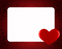 Day Valentine card. With heart Stock Photo