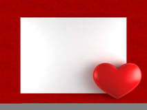 Day Valentine card with heart Royalty Free Stock Photo