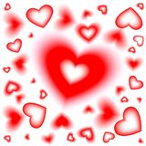 Day valentine Hearts background vith Bloor. Greeting Card. Vect stock illustration