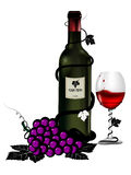 Day valentine present with glass of wine Royalty Free Stock Photography