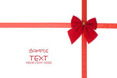 Day Valentine red ribbon Christmas decoration Stock Image