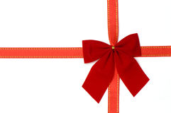 Day Valentine red ribbon Christmas decoration Stock Images