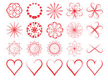 Day of Valentine symbols Stock Image