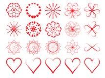 Day of Valentine symbols Stock Image