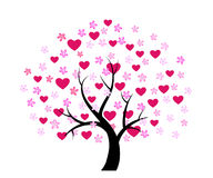 Day valentine tree Royalty Free Stock Photo