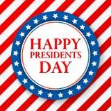 Day Vector Background总统 美国颜色标志 美国爱国模板 与条纹和星的例证 免版税图库摄影