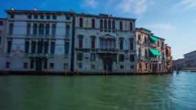 Day venice ferry road trip grand canal ride panorama 4k time lapse italy stock footage