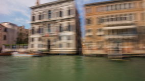 Day venice grand canal ferry road trip ride panorama 4k time lapse italy stock video