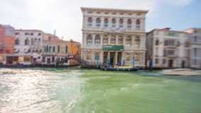 Day venice grand canal ferry road trip side panorama 4k time lapse italy stock video footage