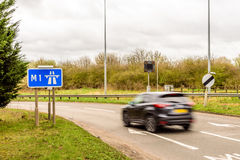 Day view background of UK Motorway Road stock photography