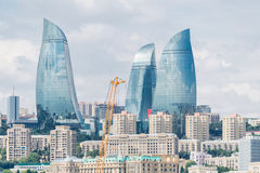 The day view of baku azerbaijan architecture Royalty Free Stock Images