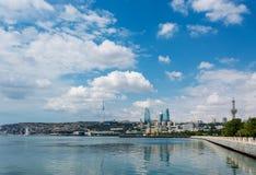 The day view of baku azerbaijan architecture Royalty Free Stock Photos