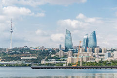 The day view of baku azerbaijan architecture Royalty Free Stock Image