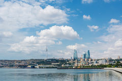 The day view of baku azerbaijan architecture Royalty Free Stock Image