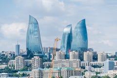 The day view of baku azerbaijan architecture Royalty Free Stock Photography