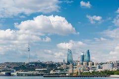 The day view of baku azerbaijan architecture stock image