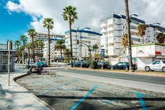 Day view of Benalmadena street Stock Images