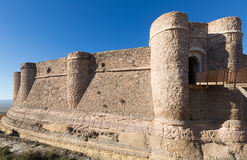 Day view of castle of Chinchilla Royalty Free Stock Images