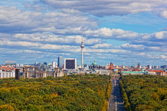 Day view of the central district of Berlin Stock Photography