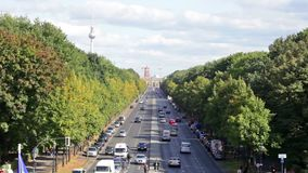 Day view of the central district of Berlin from an observation deck Royalty Free Stock Image