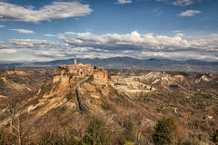 Day View of  Civita di Bagnoregio, Lazio, Italy Stock Image