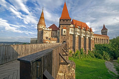 Day view on Corvin castle 2 Royalty Free Stock Image