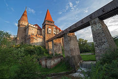 Day view on Corvin castle Stock Photo