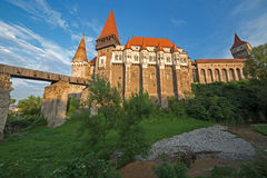 Day view on Corvin castle 4 Royalty Free Stock Photography