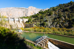 Day view of dam at Chorro river Stock Photo