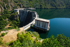 Day view of dam.  Galicia Royalty Free Stock Photos