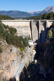 Day view of dam at Guadalentin river.  Andalusia Royalty Free Stock Photo