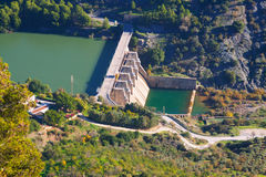 Day view of dam Royalty Free Stock Images