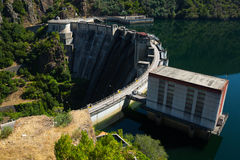 Day view of dam at Sil river.  Galicia Stock Image