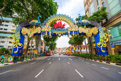 Day view of Deepavali decorations in Little India Singapore Royalty Free Stock Images