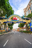 Day view of Deepavali decorations in Little India Singapore Royalty Free Stock Photography