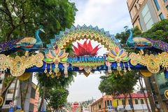 Day view of Deepavali decorations in Little India Singapore Stock Photos