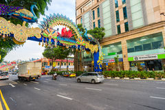 Day view of Deepavali decorations in Little India Singapore Stock Images