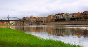 Day view of Ebre river in Tortosa. Spain royalty free stock photos