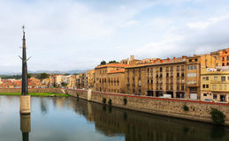 Day view of Ebre river in Tortosa Royalty Free Stock Photography